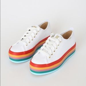 Keds Triple Up Rainbow Leather Sneakers